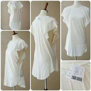 NWT Urban Outfitters Ruffle sleeve side cutout